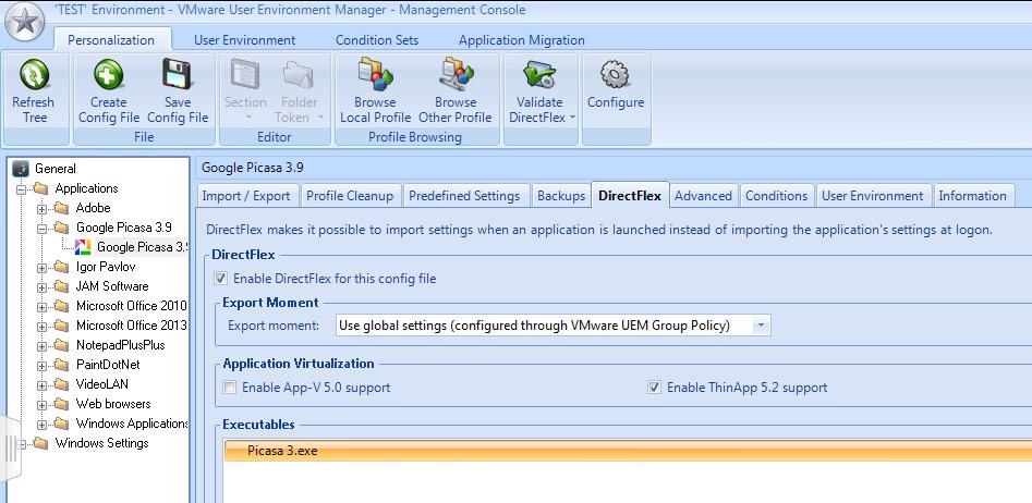 UEM9_ThinApp support